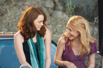 Emma Stone and Patricia Clarkson as mother and daughter