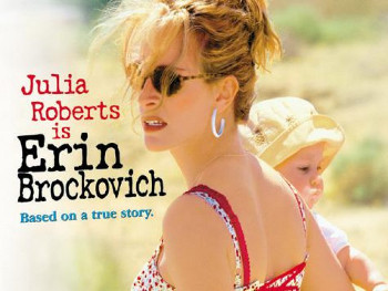 Julia Robers played real life mom and hero Erin Brockovich