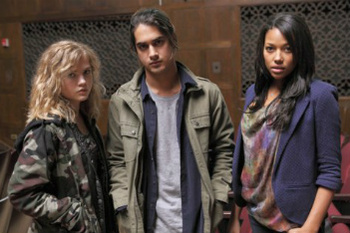 Evan Jogia, Maddie Hasson and Kylie Bunbury