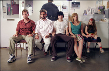 Sheryl Hoover and her family in Little Miss Sunshine