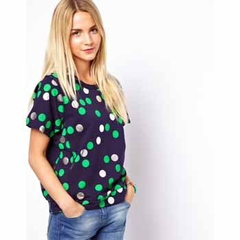 Asos polka dot t-shirt, $30