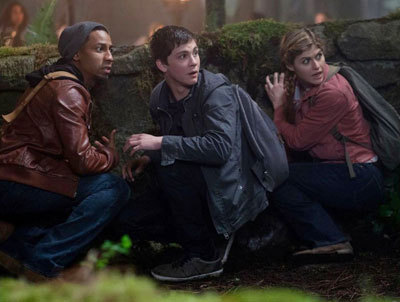 Glover (Brandon), Percy (Logan) and Annabeth (Alexandra)