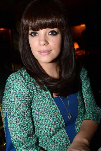 Lily Allen's sleek and stylish bangs
