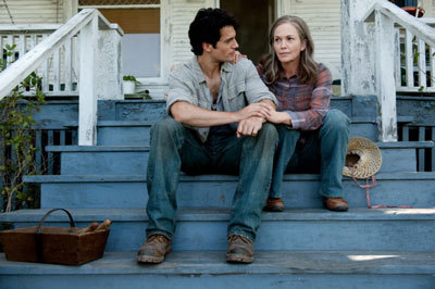 Clark (Henry Cavill) with an older Martha (Diane Lane)