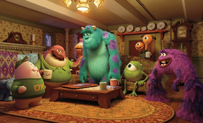 Sulley and Mike with Oozma Kappa frat bros