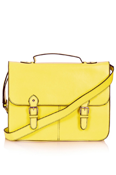 Topshop yellow satchel, $32
