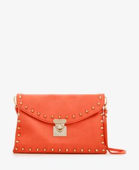 Forever 21 orange clutch, $19