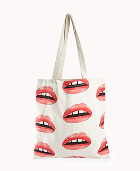 Forever 21 lips tote, $3