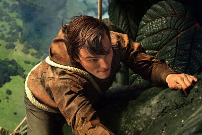 Jack climbs the giant beanstalk