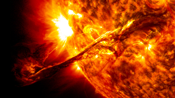 "The sun's surface ""erupting"""