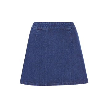 Topshop denim skirt, $30