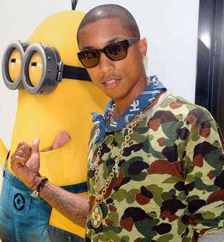 Pharrell pointing to a minion
