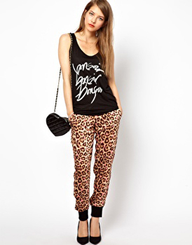 Asos leopard pants, $45