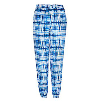New Look blue check pants, $20
