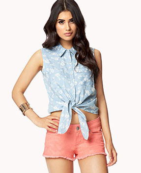 Forever 21 denim crop top, $12.75