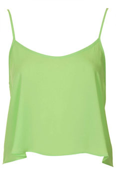 Topshop lime green crop top, $15