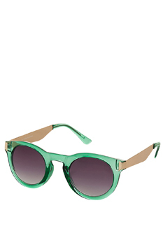 Topshop green sunglasses, $30