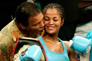 Laila Ali and Dad