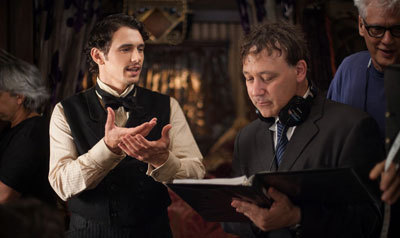 James Franco as Oz with director Sam Raimi