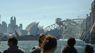 A giant Kaiju attacks Sydney