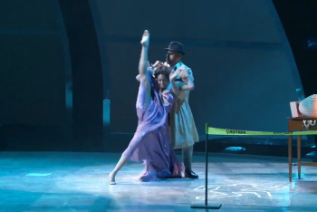 Jasmine and Aaron Performing Contemporary