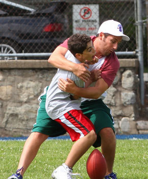 Adam Sandler hugs son Cameron Boyce