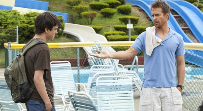 Liam as Duncan with mentor Sam Rockwell