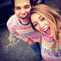 Hilary Duff and Skylar Astin