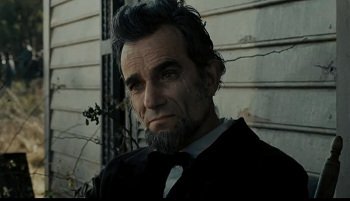 Award-winner Daniel Day-Lewis as Lincoln