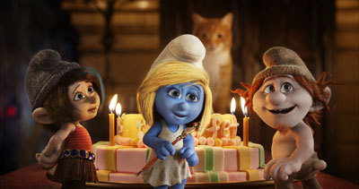 Smurfette's birthday celebration