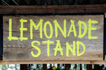 Summer is the season on lemonade stands!