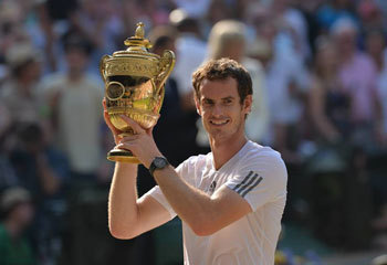 Andy Murray with his trophy!