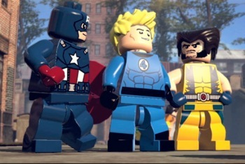 Captain America, Johnny Storm, and Wolverine