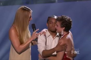 Fik-shun and Melanie with Cat Deeley