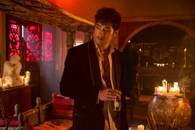 Godfrey as Mangus in his cool lair
