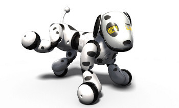 Zoomer has rotating joints to move just like a real dog courtesy of