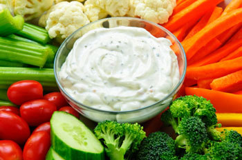 Veggies with ranch dip