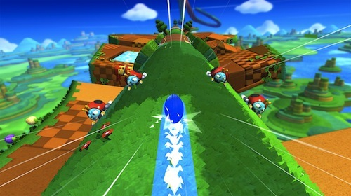 Sonic's visuals really pop on WiiU.