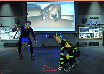 Motion Capture actors on stage