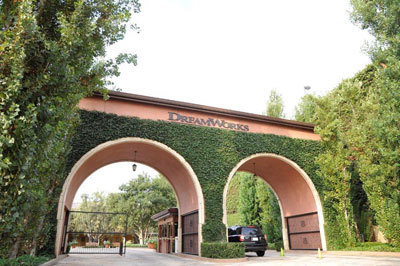 Entry gate to DreamWorks