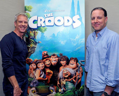 Writer/Directors Kirk DeMicco (left) and Chris Sanders
