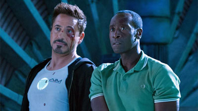 Tony and Rhodey prepare to fight Killian