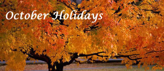 October Holidays