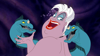 Ursula with her evil eels!