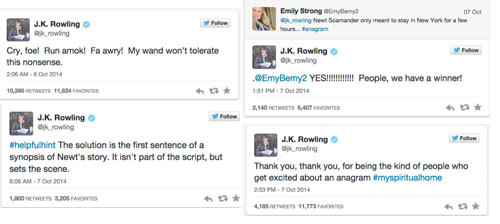 Did you solve J.K. Rowling's anagram?