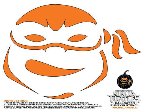 Michelangelo Pumpkin Stencil