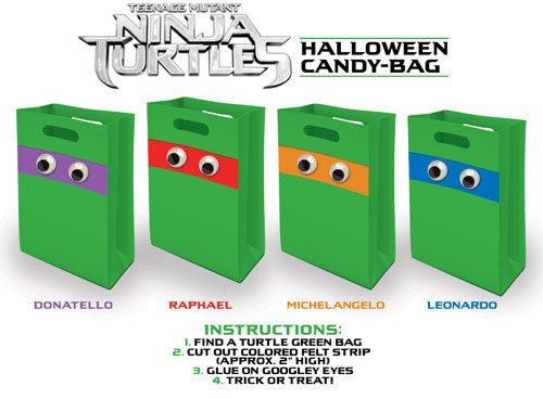 TMNT Halloween Candy Bags