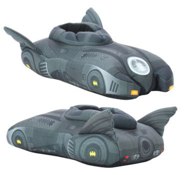 Take my money! Batmobile slippers!