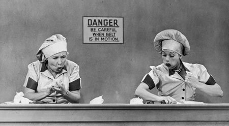 I Love Lucy's famous chocolate scene