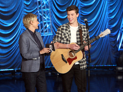 Shawn performs